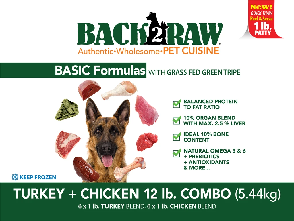 Back2Raw Basic Formulas Turkey and Chicken Combo 12lb