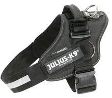 Load image into Gallery viewer, Julius K-9 IDC® Pulling Powerharness With Side Rings -  Black