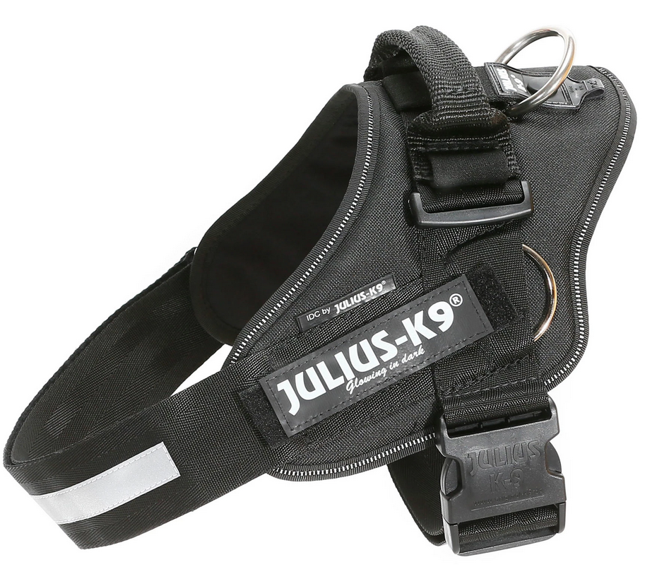 Julius K-9 IDC® Pulling Powerharness With Side Rings -  Black