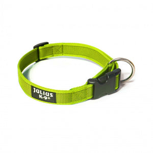Julius K-9 Webbed Dog Collar Neon Green