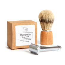 Load image into Gallery viewer, Traditional Shaving Supplies - Soap, brush and razor