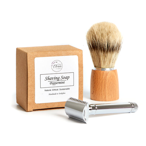 Traditional Shaving Supplies - Soap, brush and razor