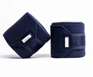 Equestrian Stockholm Fleece Bandages Midnight Blue