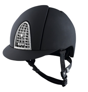 KEP - Black chrome Swarovski helmet