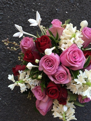 Pretty in pink and white flower posy