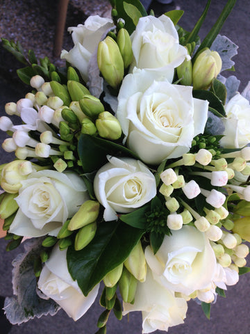 Flower Bouquet Elegant White Posy