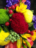 Flower Posy Bright Textured Posy