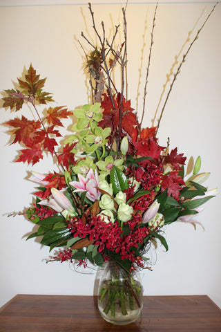 Flower Arrangement Autumnal Toned Flower Arrangement