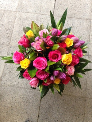 Bright Mixed Seasonal Flower Arrangement
