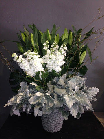 Whites and Grey Arrangement