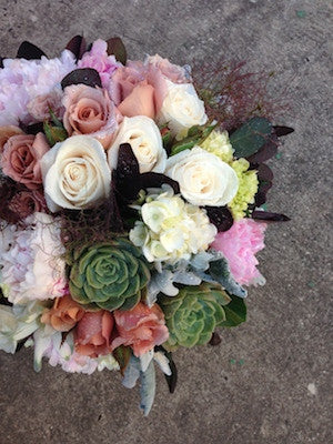 Vintage and Funky Succulent Bouquet Posy