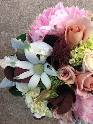 Vintage and Textured Stunning Bouquet Posy