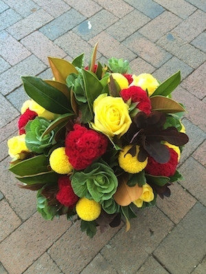 Vibrant and funky Flower Arrangement