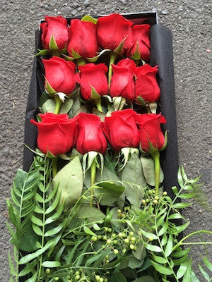 Dozen Red Roses in a presentation Box