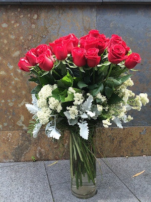 Bouquet of twenty four Columbian Roses