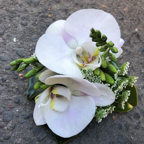 Corsage with orchids