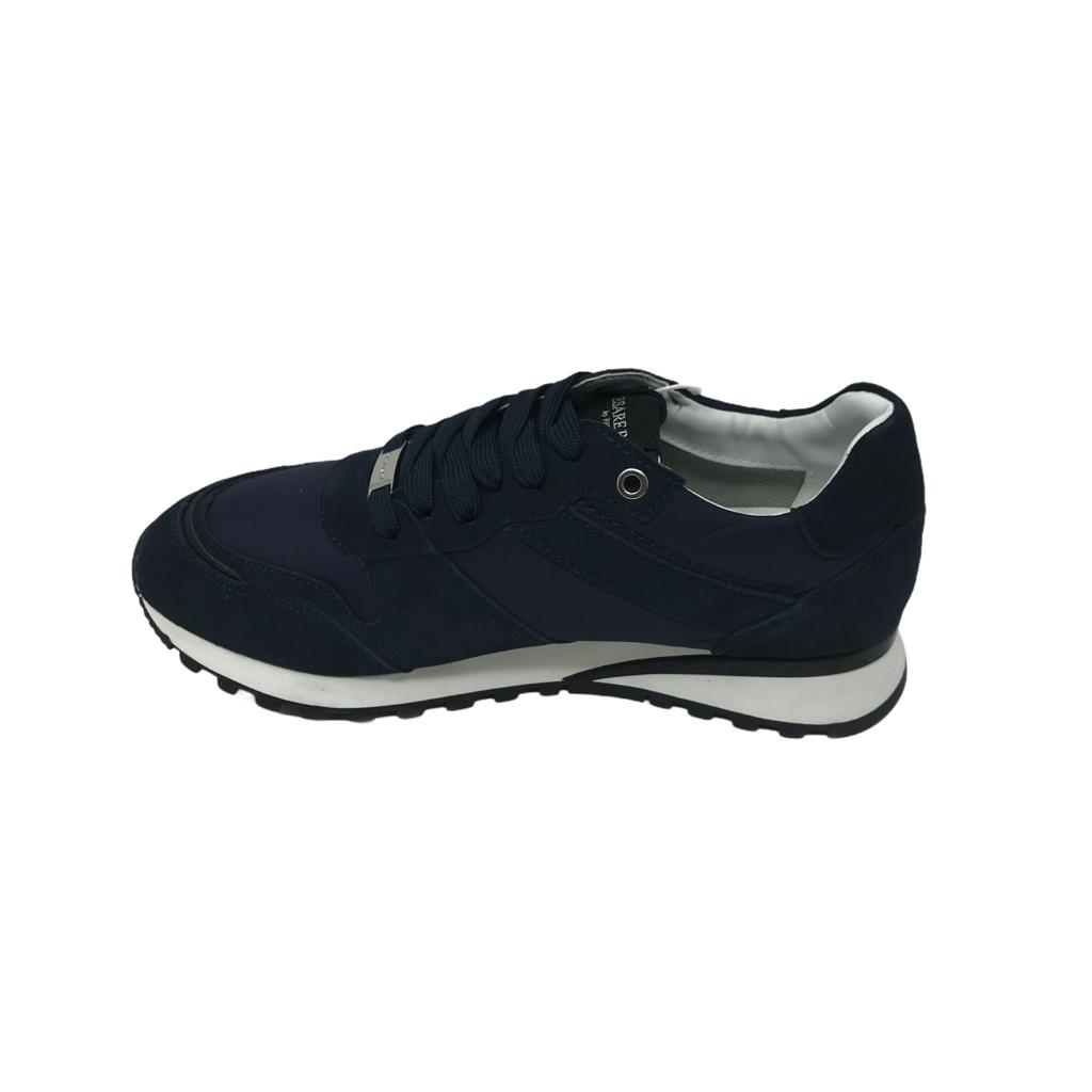 Scarpa Cesare Paciotti Shoes Nylon Blu Deep
