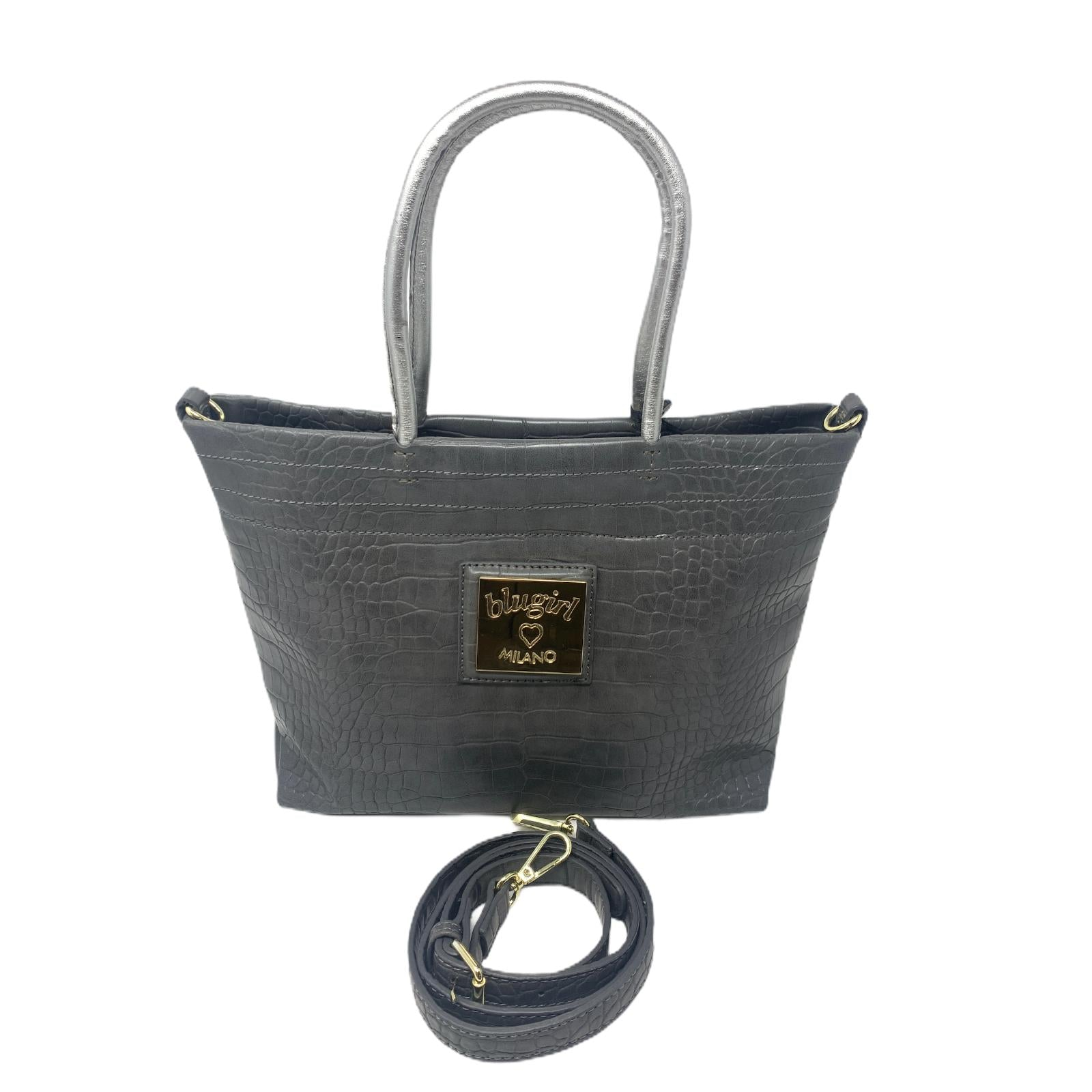 Blugirl Borsa BluMarine Marrone Bag Shopper Crocodile Grey