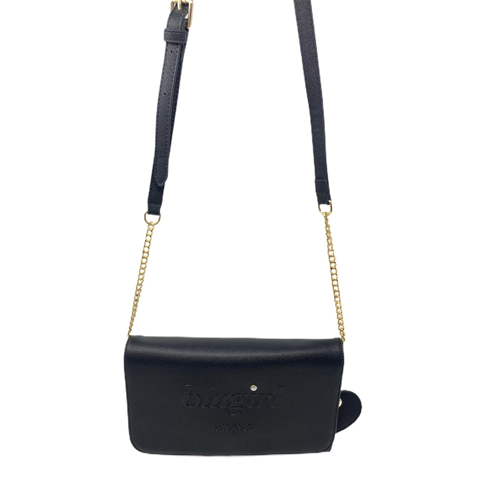 Blugirl Borsa Nera Bag Shopper Rigida Bag Mini Borsa Pochette