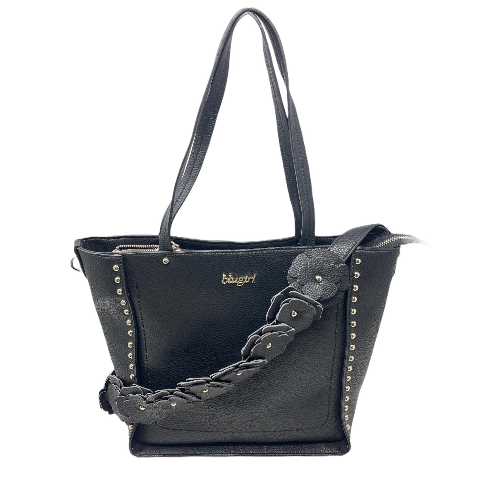 Blugirl Borsa Nera Bag Shopper Shopping  Bag