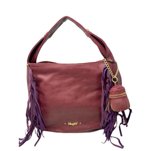 Borsa BluGirl Morbida Bag Shopping Borsa Shopper Bordeaux