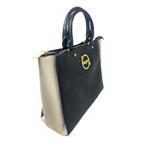 Borsa BluGirl Morbida Shopper Bag Nera Panna Shopping Bag