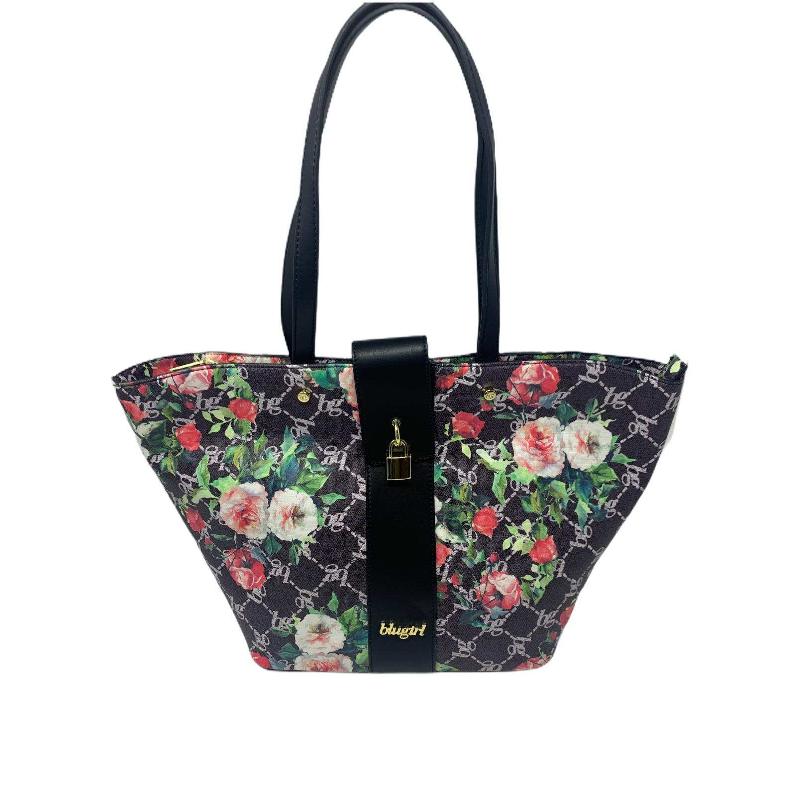 Borsa BluGirl Rigida Shopper Bag Flowers