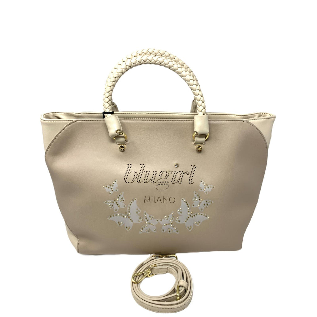 Borsa Blugirl Borsa Shopper Bag Butterfly Beige