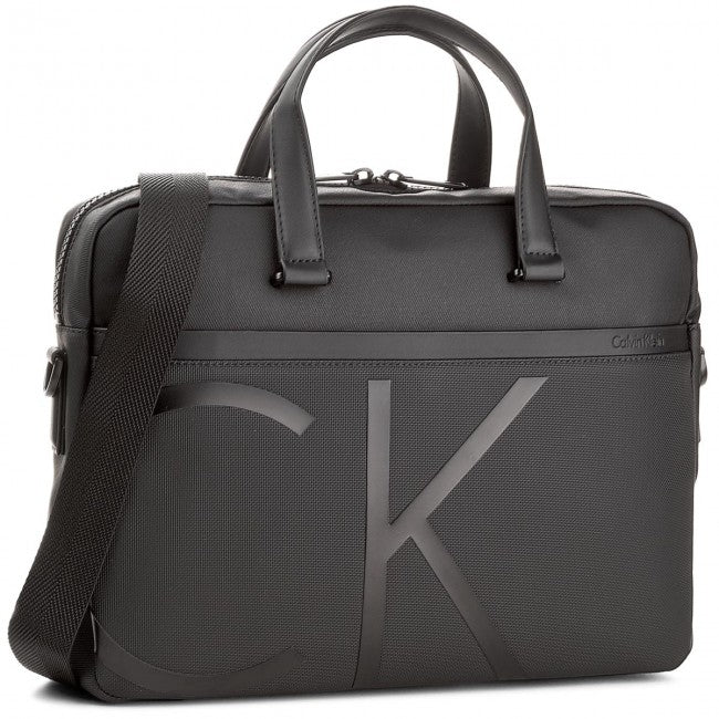Borsa Calvin Klein 24 ore PC Raised Laptop Men Nera