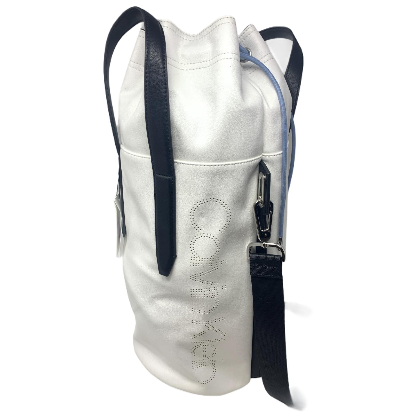 Borsa Calvin Klein Borsone Punched Cylinder BackPack white