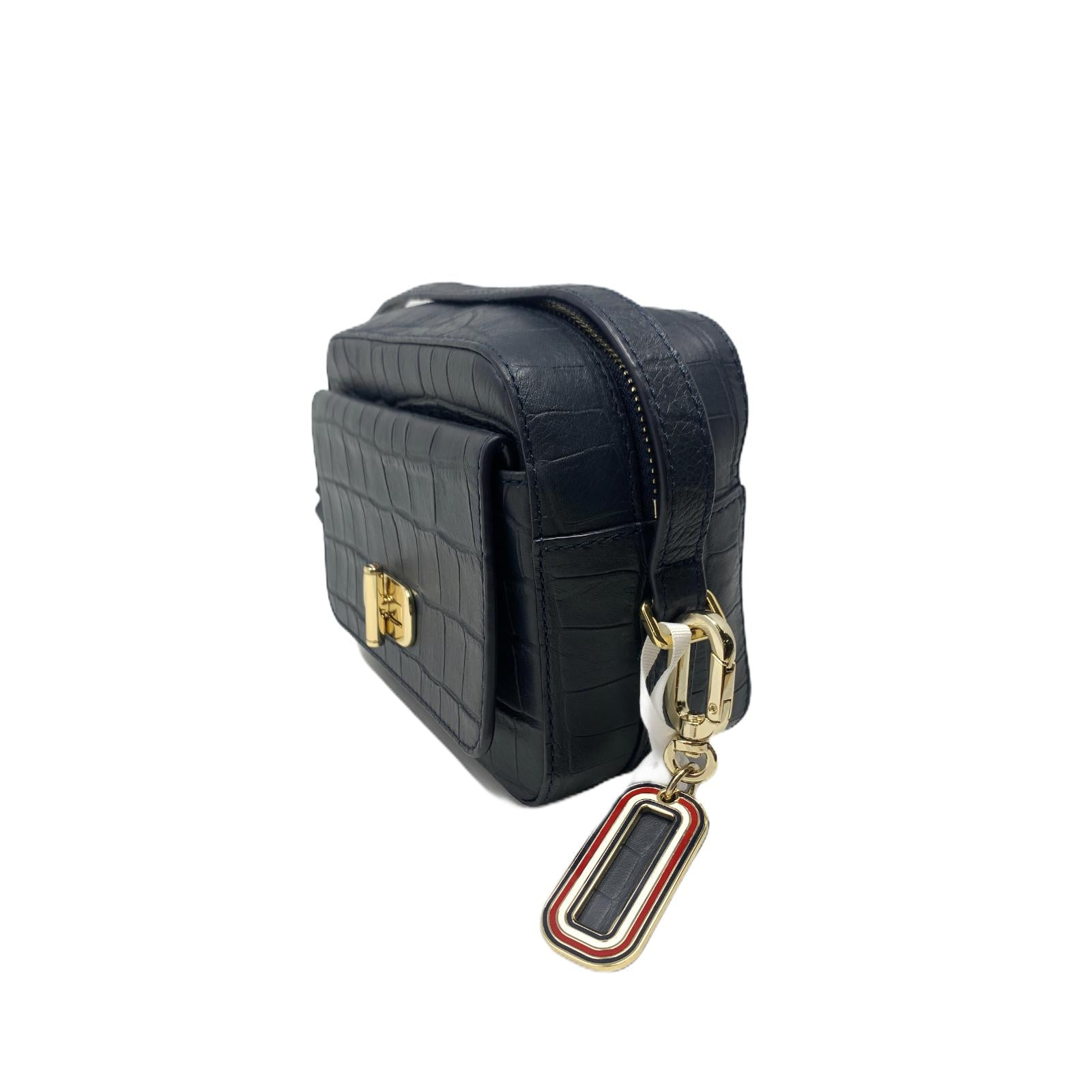 Borsa Mini Tommy Hilfiger Canvas Mix Bag Crocodile