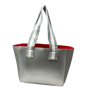 Borsa Shopper Selfie Bag Silver Red