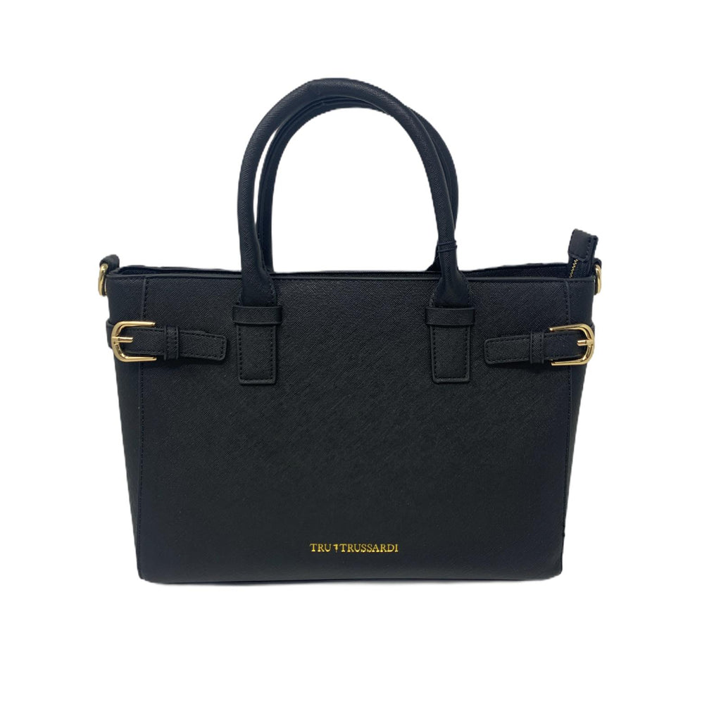 Borsa Shopper Bag Tru Trussardi Borsa a Mano Black Bag