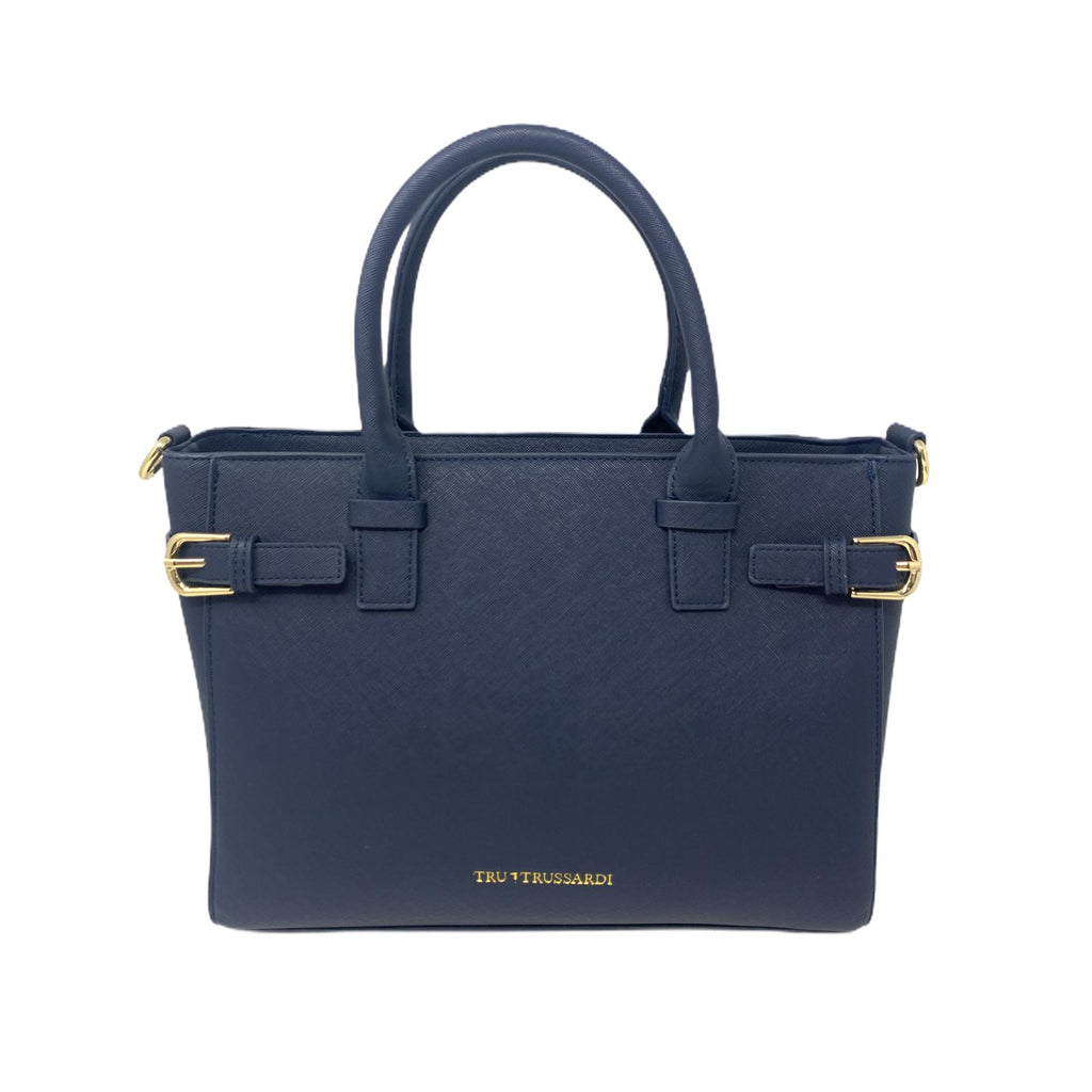 Borsa Shopper Bag Tru Trussardi Borsa a Mano Blue Navy Bag