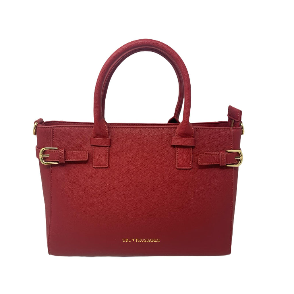 Borsa Shopper Bag Tru Trussardi Borsa a Mano Bordeaux