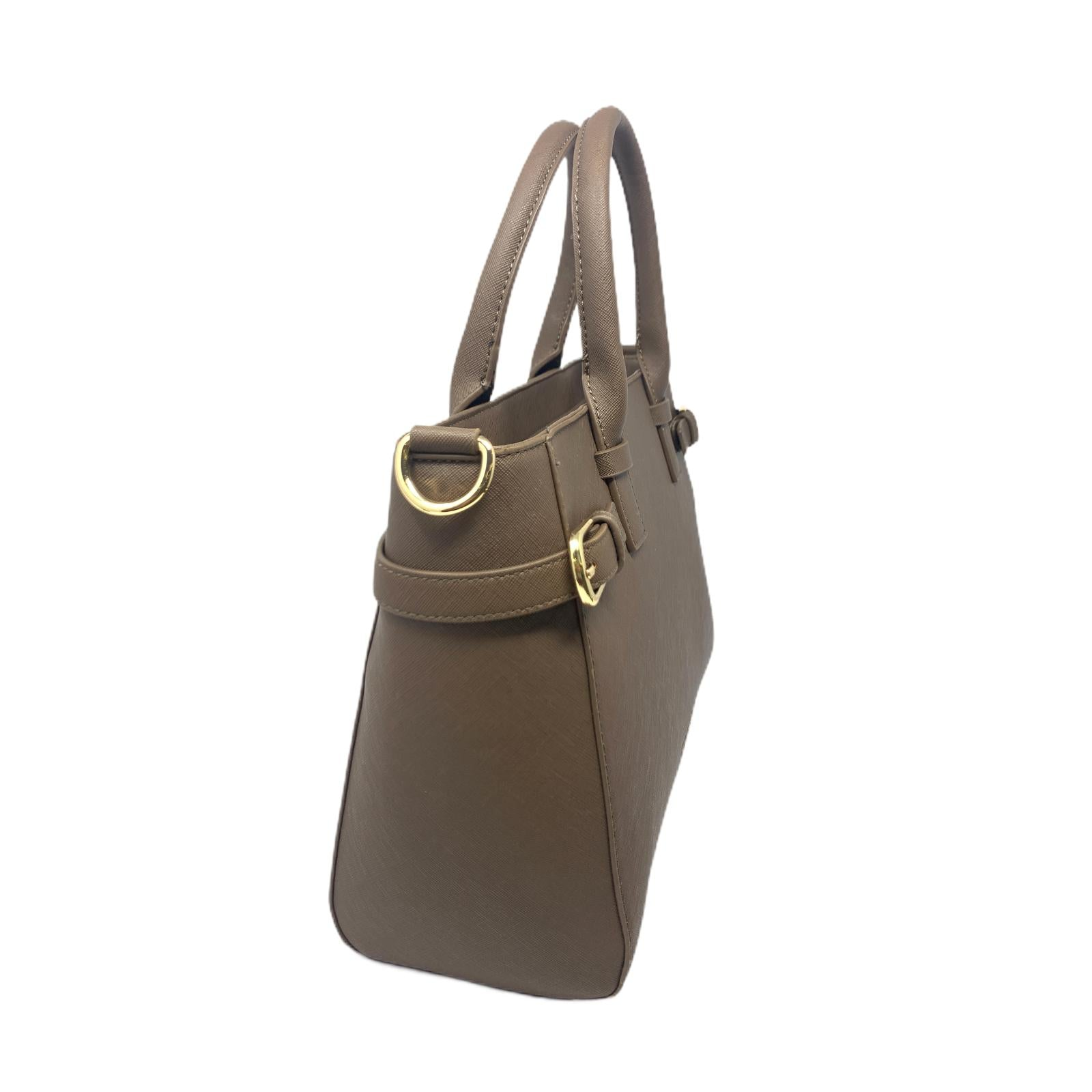 Borsa Shopper Bag Tru Trussardi Borsa a Mano Marrone Bag