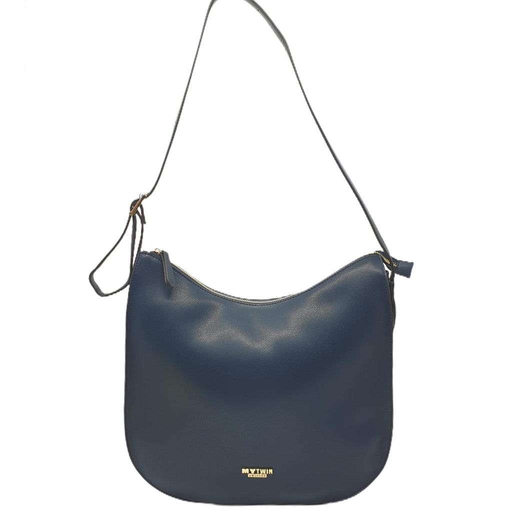 Borsa Twinset Hobo Blu Shopper Bag Curvi