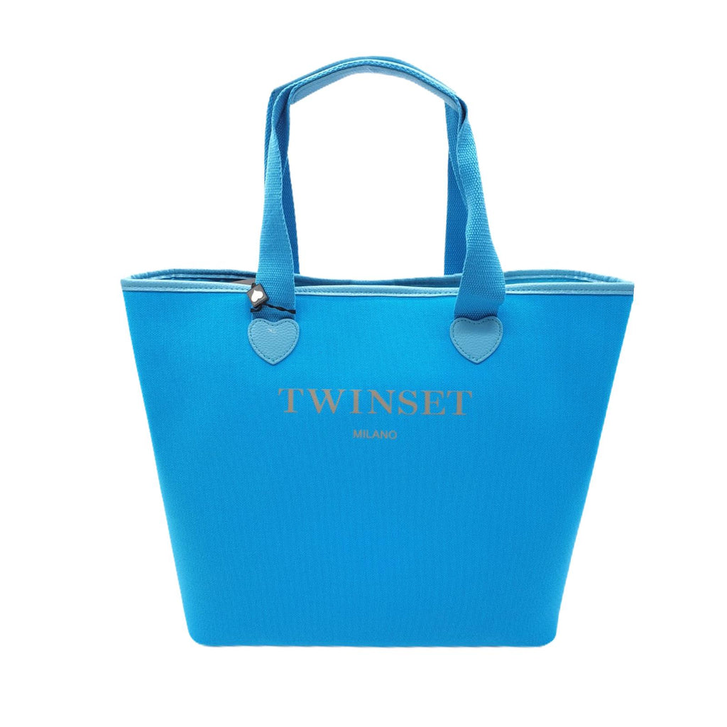 Borsa Twinset Shopping Bag Turchese