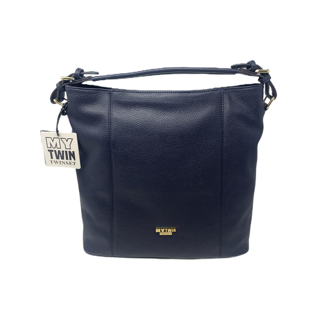 Borsa Twinset Shopping Hobo Quadrata Blu