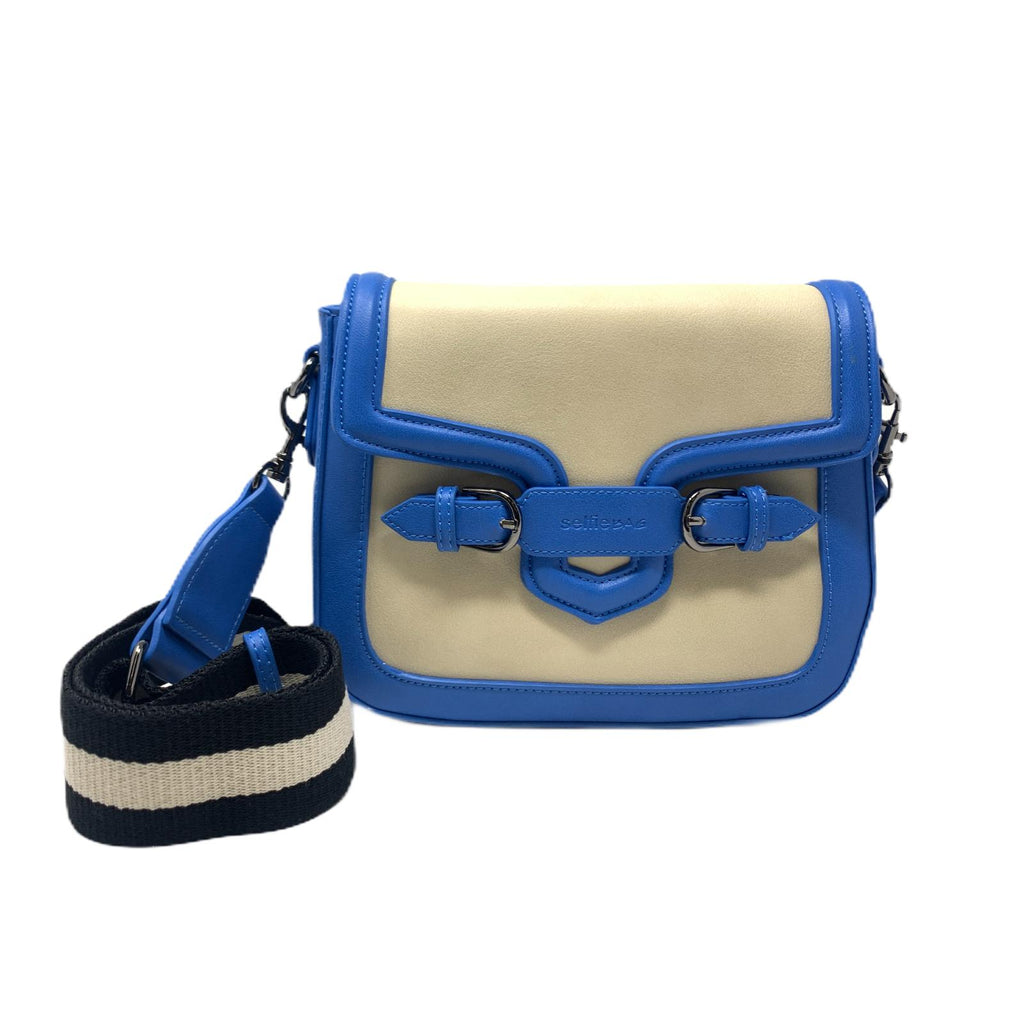 Borsetta People Mini Blue Taupe Selfie Bag