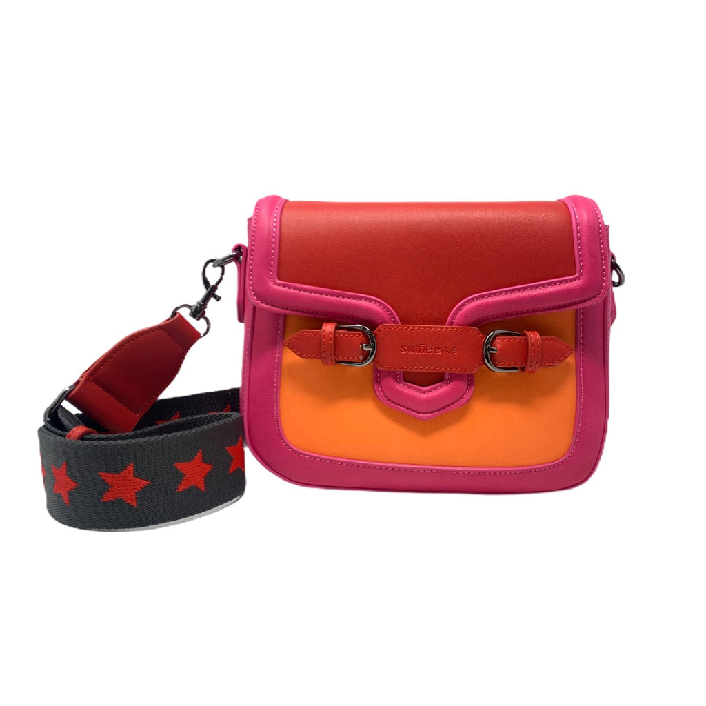 Borsetta Selfie Bag People Mini Star Red Fuxia