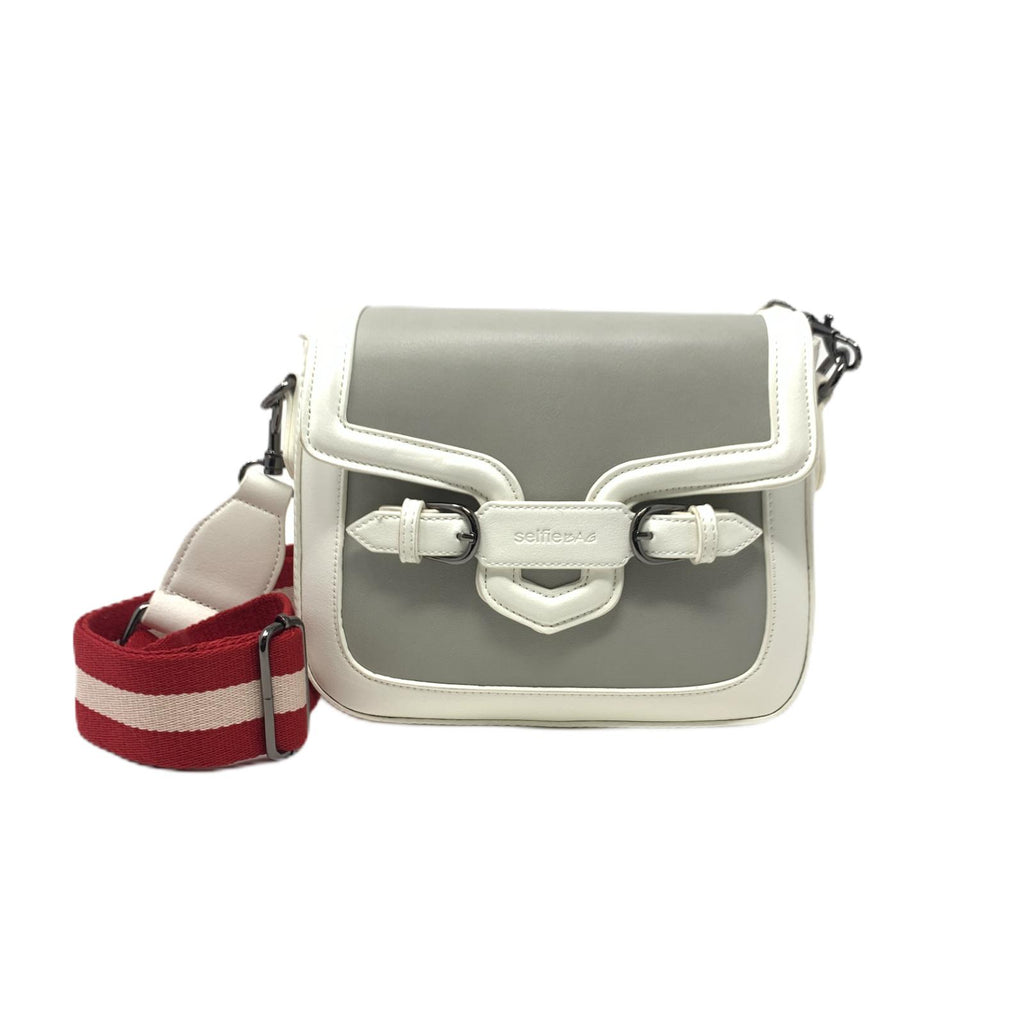 Borsetta Selfie Bag People Mini White Grey