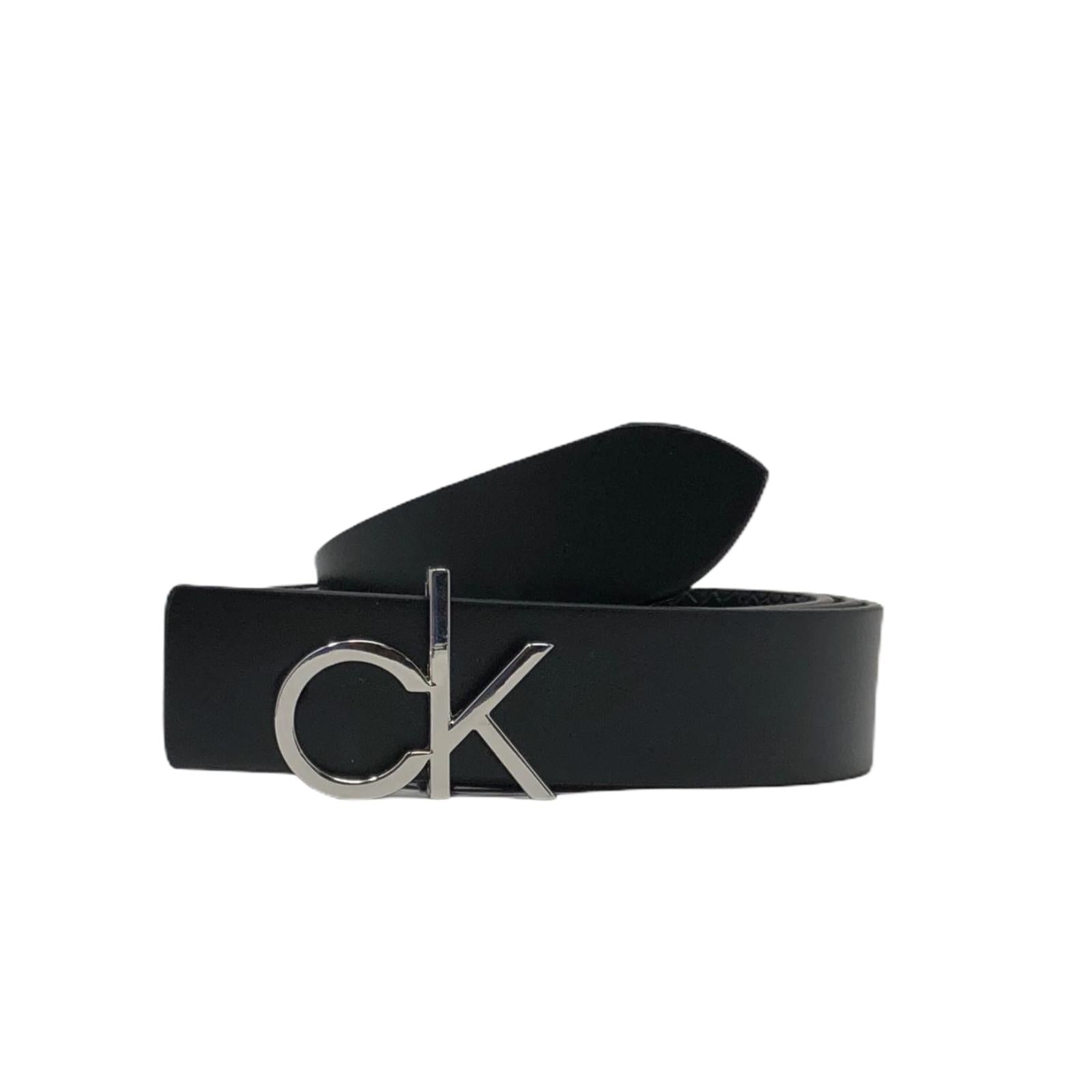 Cintura Calvin Klein Nera Belt Riv Genuine Leather