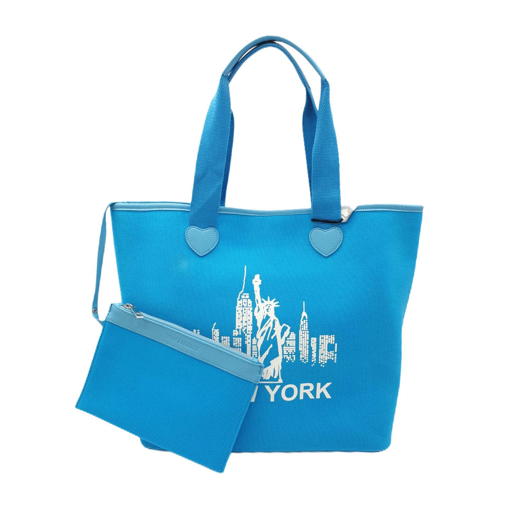 Borsa Twinset Shopping Bag Turchese New York Borsa Mare