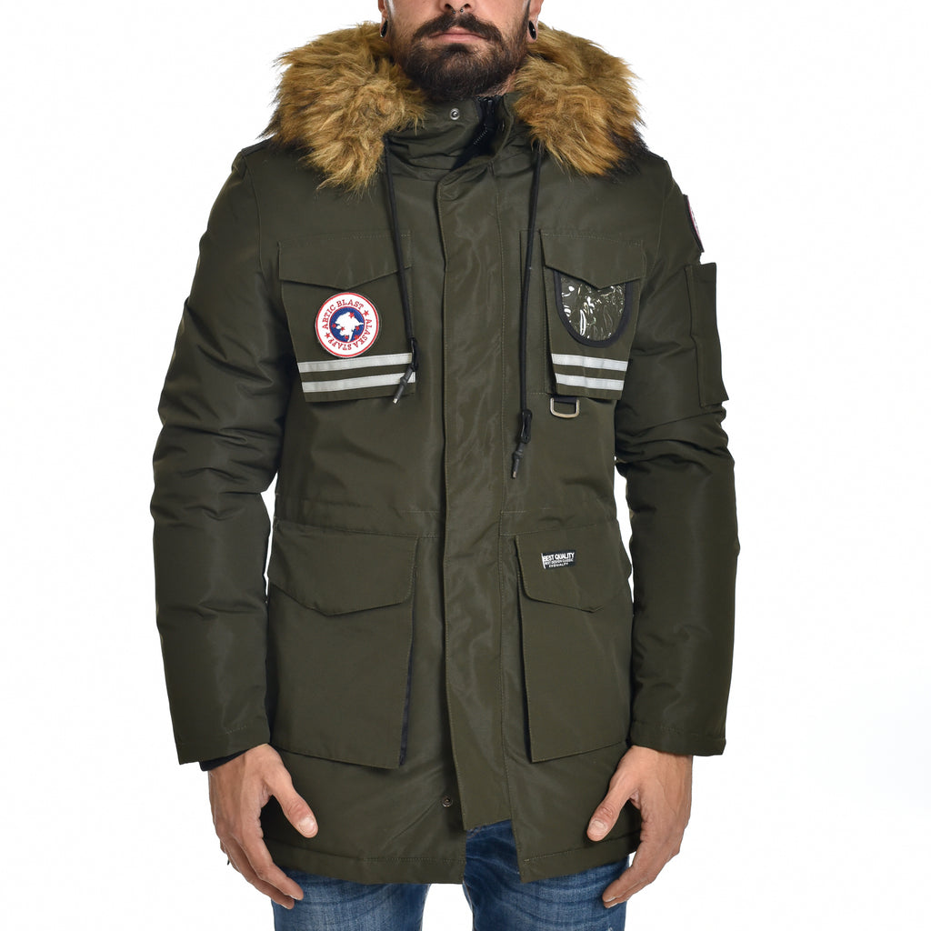 Parka Uomo XZX Invernale Artic Blast Green Military