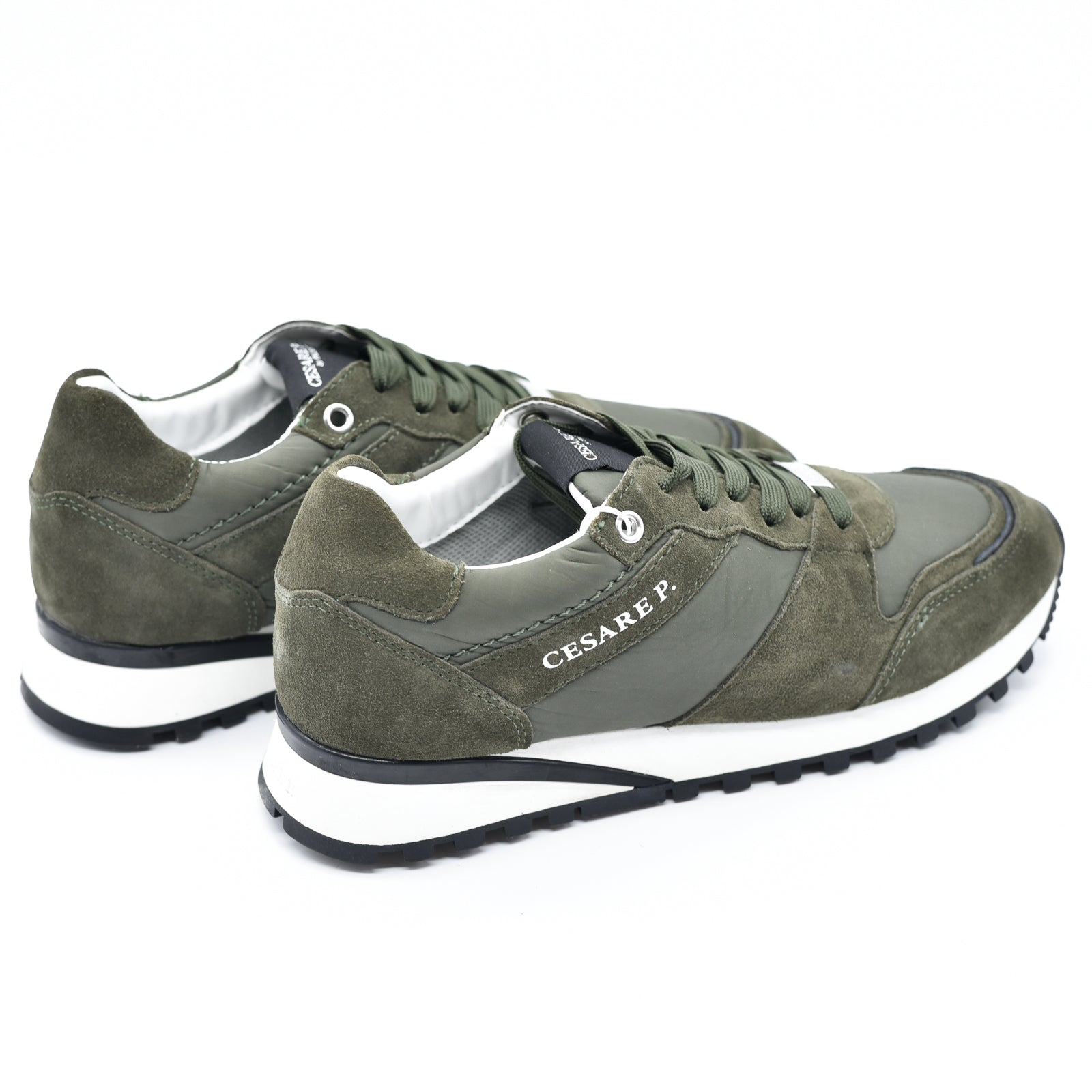 Scarpa Cesare Paciotti Shoes Nylon Verde Deep