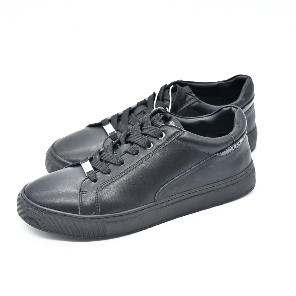 Scarpa Bassa Cesare Paciotti Shoes Leather Black