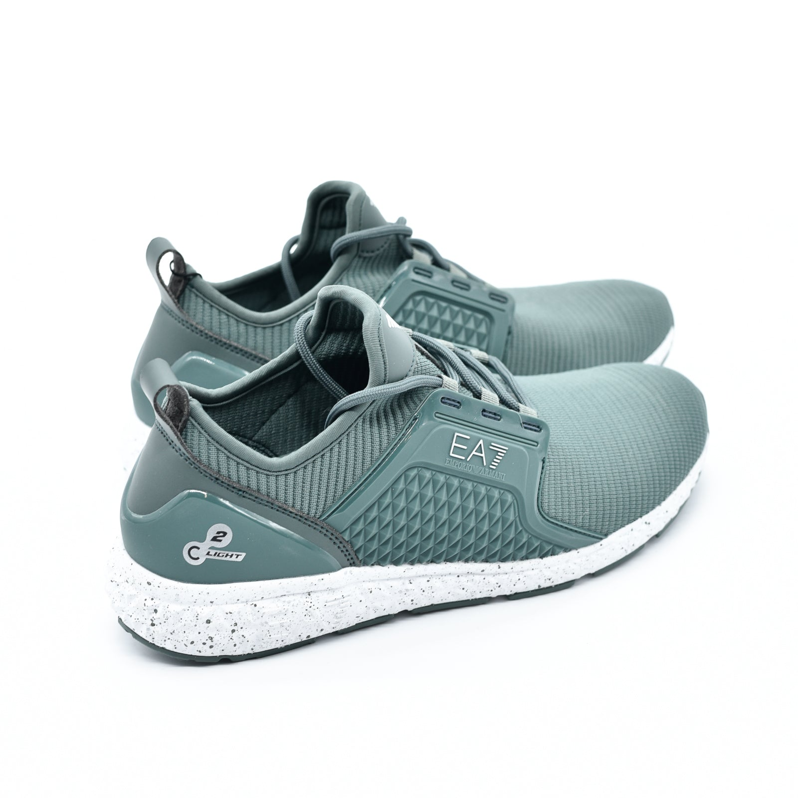 Scarpa Armani Jeans Sneakers Light Uomo Verde Light