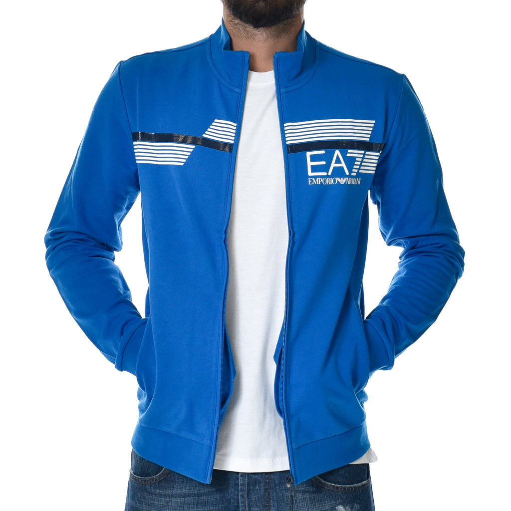 Felpa EA7 Emporio Armani Sweat Shirt Blue Sports