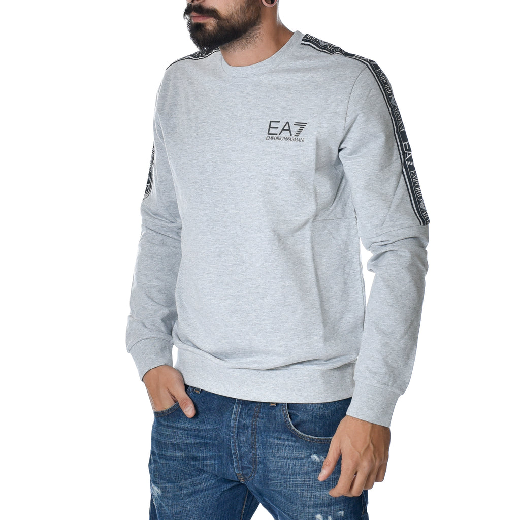 Felpa EA7 Emporio Armani Sweat Shirt Grigio Sports Armani